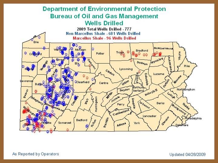 Marcellus Shale Maps 2009